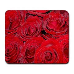 Red Roses Love Large Mousepads by yoursparklingshop