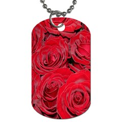 Red Roses Love Dog Tag (two Sides) by yoursparklingshop