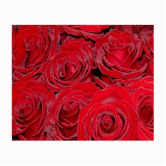 Red Roses Love Small Glasses Cloth (2 Side) by yoursparklingshop