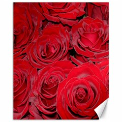 Red Roses Love Canvas 11  X 14   by yoursparklingshop
