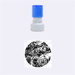Red Roses Love Rubber Round Stamps (small) by yoursparklingshop