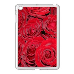 Red Roses Love Apple Ipad Mini Case (white) by yoursparklingshop