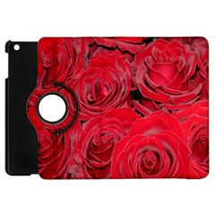 Red Roses Love Apple Ipad Mini Flip 360 Case by yoursparklingshop