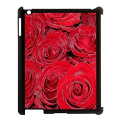 Red Roses Love Apple Ipad 3/4 Case (black) by yoursparklingshop