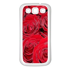 Red Roses Love Samsung Galaxy S3 Back Case (white) by yoursparklingshop