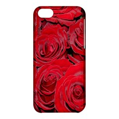 Red Roses Love Apple Iphone 5c Hardshell Case by yoursparklingshop