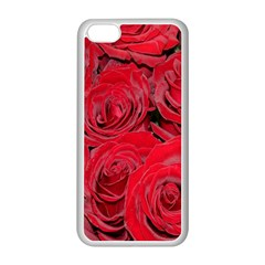 Red Roses Love Apple Iphone 5c Seamless Case (white) by yoursparklingshop