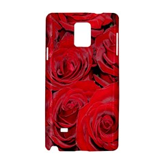 Red Roses Love Samsung Galaxy Note 4 Hardshell Case by yoursparklingshop