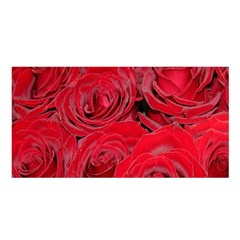 Red Roses Love Satin Shawl by yoursparklingshop