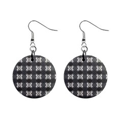 Black White Gray Crosses Mini Button Earrings by yoursparklingshop