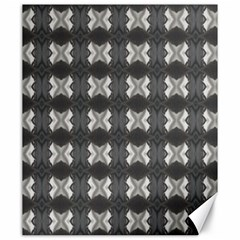 Black White Gray Crosses Canvas 20  X 24   by yoursparklingshop