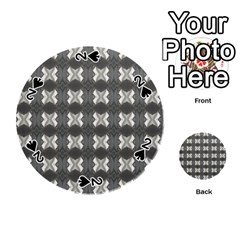 Black White Gray Crosses Playing Cards 54 (round)  by yoursparklingshop