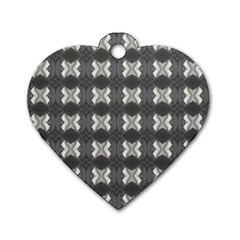Black White Gray Crosses Dog Tag Heart (two Sides) by yoursparklingshop