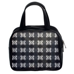 Black White Gray Crosses Classic Handbags (2 Sides) by yoursparklingshop