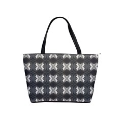 Black White Gray Crosses Shoulder Handbags by yoursparklingshop