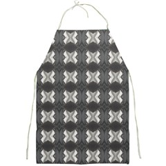 Black White Gray Crosses Full Print Aprons by yoursparklingshop