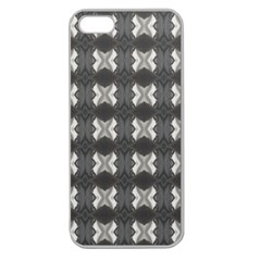 Black White Gray Crosses Apple Seamless Iphone 5 Case (clear) by yoursparklingshop
