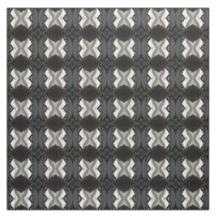 Black White Gray Crosses Large Satin Scarf (square) by yoursparklingshop