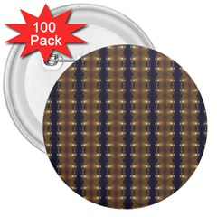 Black Brown Gold Stripes 3  Buttons (100 Pack)  by yoursparklingshop