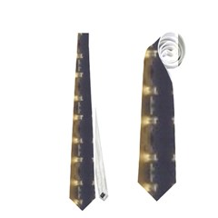 Black Brown Gold Stripes Neckties (one Side)