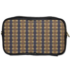 Black Brown Gold Stripes Toiletries Bags 2 Side by yoursparklingshop