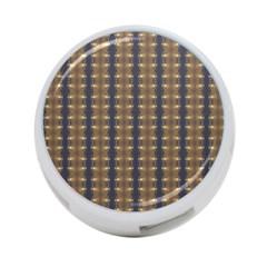 Black Brown Gold Stripes 4 Port Usb Hub (one Side) by yoursparklingshop