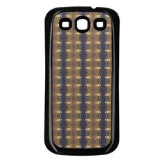 Black Brown Gold Stripes Samsung Galaxy S3 Back Case (black) by yoursparklingshop