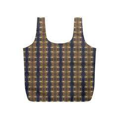 Black Brown Gold Stripes Full Print Recycle Bags (s)  by yoursparklingshop