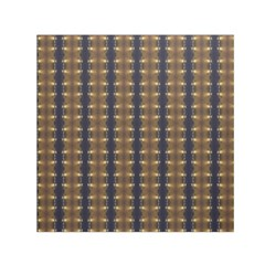 Black Brown Gold Stripes Small Satin Scarf (square) by yoursparklingshop