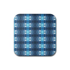 Blue Diamonds Of The Sea 1 Rubber Coaster (square)  by yoursparklingshop