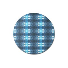 Blue Diamonds Of The Sea 1 Magnet 3  (round) by yoursparklingshop