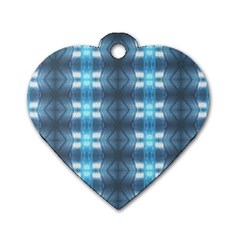 Blue Diamonds Of The Sea 1 Dog Tag Heart (one Side) by yoursparklingshop