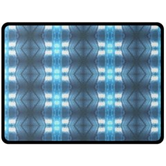 Blue Diamonds Of The Sea 1 Double Sided Fleece Blanket (Large)  by yoursparklingshop