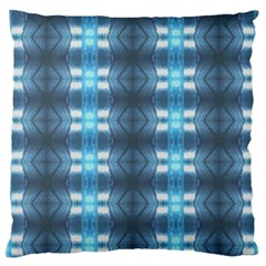 Blue Diamonds Of The Sea 1 Large Flano Cushion Case (one Side) by yoursparklingshop