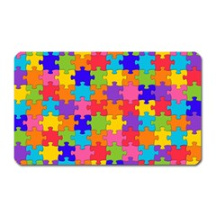 Funny Colorful Jigsaw Puzzle Magnet (Rectangular) by yoursparklingshop