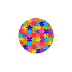Funny Colorful Jigsaw Puzzle Golf Ball Marker (10 Pack)
