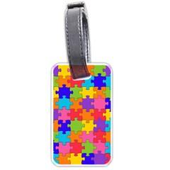 Funny Colorful Jigsaw Puzzle Luggage Tags (two Sides) by yoursparklingshop