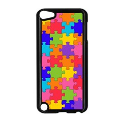 Funny Colorful Jigsaw Puzzle Apple Ipod Touch 5 Case (black) by yoursparklingshop