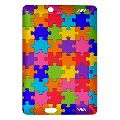Funny Colorful Jigsaw Puzzle Amazon Kindle Fire Hd (2013) Hardshell Case by yoursparklingshop