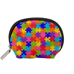 Funny Colorful Jigsaw Puzzle Accessory Pouches (small)  by yoursparklingshop