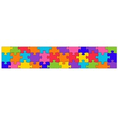 Funny Colorful Jigsaw Puzzle Flano Scarf (large) by yoursparklingshop