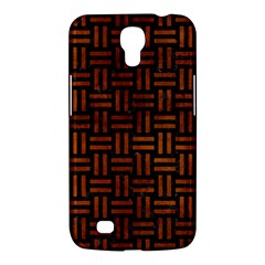 Woven1 Black Marble & Brown Burl Wood Samsung Galaxy Mega 6 3  I9200 Hardshell Case by trendistuff