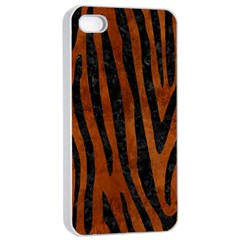 Skin4 Black Marble & Brown Burl Wood Apple Iphone 4/4s Seamless Case (white) by trendistuff