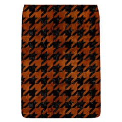 Houndstooth1 Black Marble & Brown Burl Wood Removable Flap Cover (s) by trendistuff