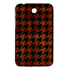 Houndstooth1 Black Marble & Brown Burl Wood Samsung Galaxy Tab 3 (7 ) P3200 Hardshell Case  by trendistuff
