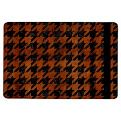 Houndstooth1 Black Marble & Brown Burl Wood Apple Ipad Air Flip Case by trendistuff