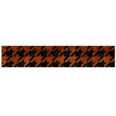 Houndstooth1 Black Marble & Brown Burl Wood Flano Scarf (large) by trendistuff
