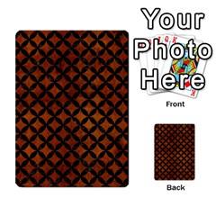 Circles3 Black Marble & Brown Burl Wood (r) Multi Purpose Cards (rectangle)