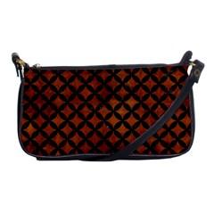 Circles3 Black Marble & Brown Burl Wood (r) Shoulder Clutch Bag by trendistuff