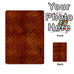 Brick2 Black Marble & Brown Burl Wood (r) Multi Purpose Cards (rectangle) by trendistuff